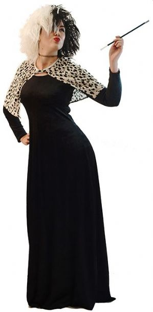 Cruella Dalmation Lady Costume